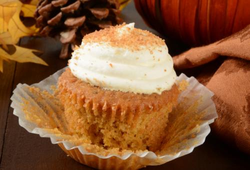 Pumpkin Spice Cannabis Cupcakes