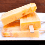 peach and cannabis popsicles