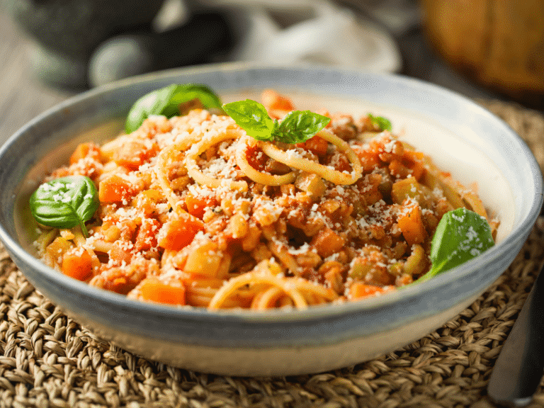 vegan cannabis spaghetti bolognese